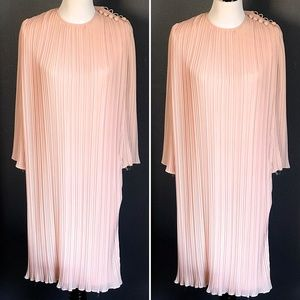 Miss Elliette Dresses - Vintage 1980 Miss Elliette Blush Pink Layer Dress